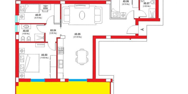 R45 - int. 5 piano primo colorato